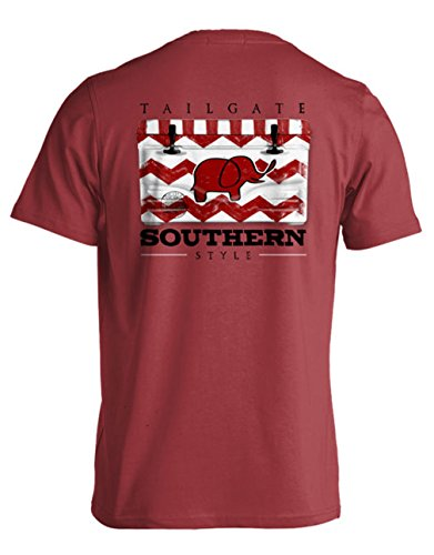 College Tailgate - Crimson Elephant - Chevron Cooler - Small - T-Shirt front-240396