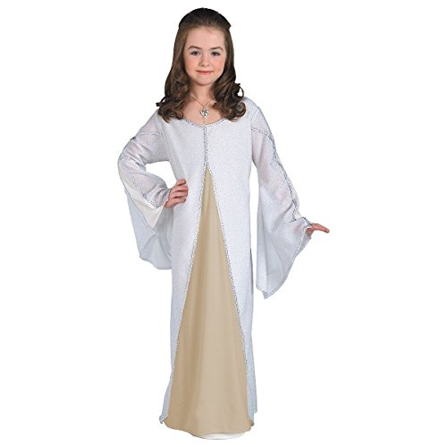 [GSG Arwen Costume Kids Lord of the Rings White Elf Princess Halloween Dress] (Lord Of The Rings Child Arwen Costume)