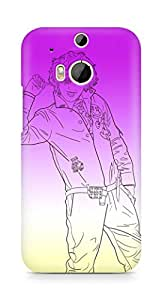 Amez designer printed 3d premium high quality back case cover for HTC One M8 (Street Romeo big bang dragon lollipop)