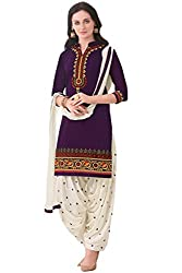 Sky Global Women's Printed Unstitched Regular Wear Dress Material (SKY_529_Purple)