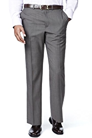 Big & Tall Active Waistband Supercrease™ Flat Front Trousers with Wool