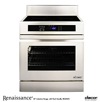"Dacor RR30NIFS 30"" Slide-In Induction Range with 4.8 cu. ft. Convection Oven, 4 SimmerSear Zones, 2 Oven GlideRacks, Digital Touch Control Panel and Digital Temperature Probe"
