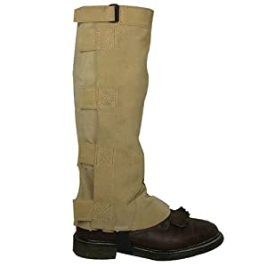 Intrepid International Deluxe Suede Half Chaps, X-Large, Taupe