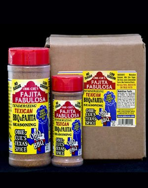 Obie-Cue's Texas Spice Fajita Fabulosa Seasoning - 3X World BBQ Champion's Winning Dry Rub (10 oz)