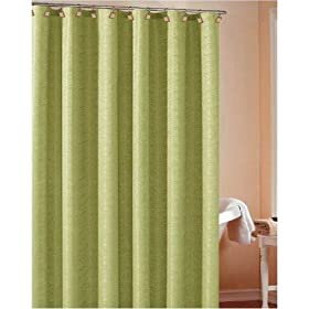 Heather Wave Shower Curtain Color: Lime