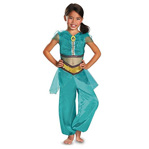Baoer Disguise Disney Aladdin Jasmine Sparkle Classic Girls Costume Medium Blue