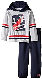 DC Little Boys\' Navy Hoody with Pants, Gray, 6