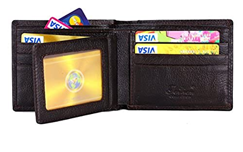 15. TAILIAN Fashion Men's Royal Genuine Leather RFID Blocking Secure Wallet Pockets