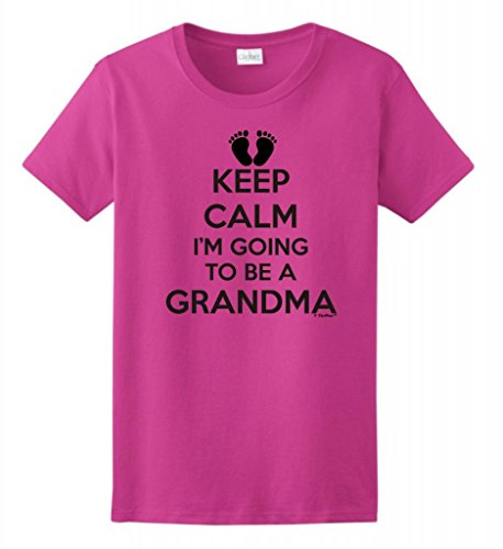 Keep Calm I'M Going To Be A Grandma Ladies T-Shirt Large Heliconia front-899620