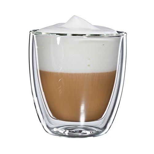 Bloomix C-011-250-G Cappucchino Grande Lot de 2 tasse à cappuccino en verre isotherme Double fond