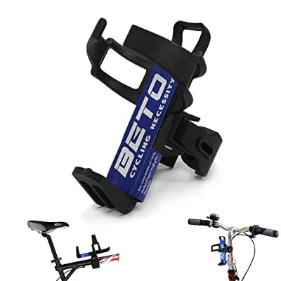BETO Adjustable Bike Bicycle MTB Water Bottle Holder Water Bottle Rack Cage Black