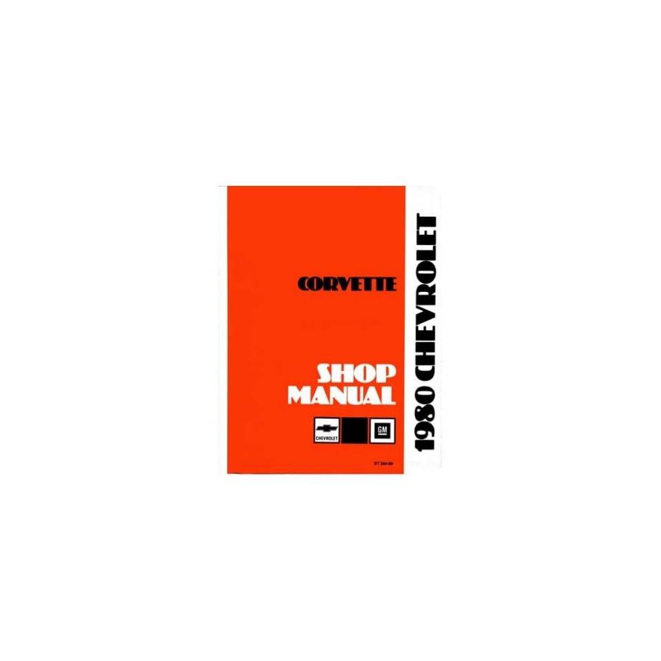 1980 CORVETTE Shop Service Repair Manual Book