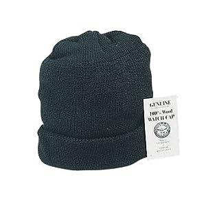 8492 GENUINE USN BLACK WOOL WATCH CAP
