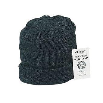 8492 Genuine US Navy Black Wool Watch Cap