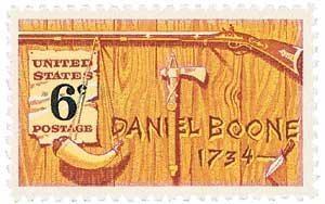 #1357 - 1968 6c Daniel Boone U. S. Postage Stamp Plate Block (4)