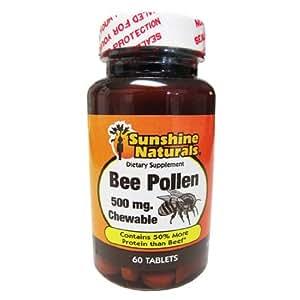 Amazon.com: Sunshine Naturals Bee Pollen Chewable: Health