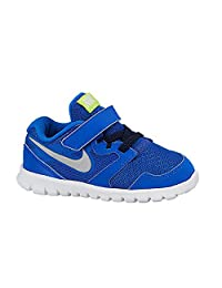 pictures of New Nike Baby Boy's Flex Experience 3 Athletic Shoes Hyper Cobalt/Silver 4