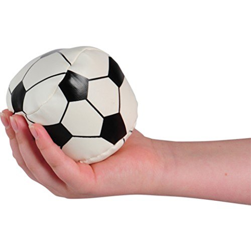 Soccer Ball Squeeze Stress Plush Ball ONE (1) - 1