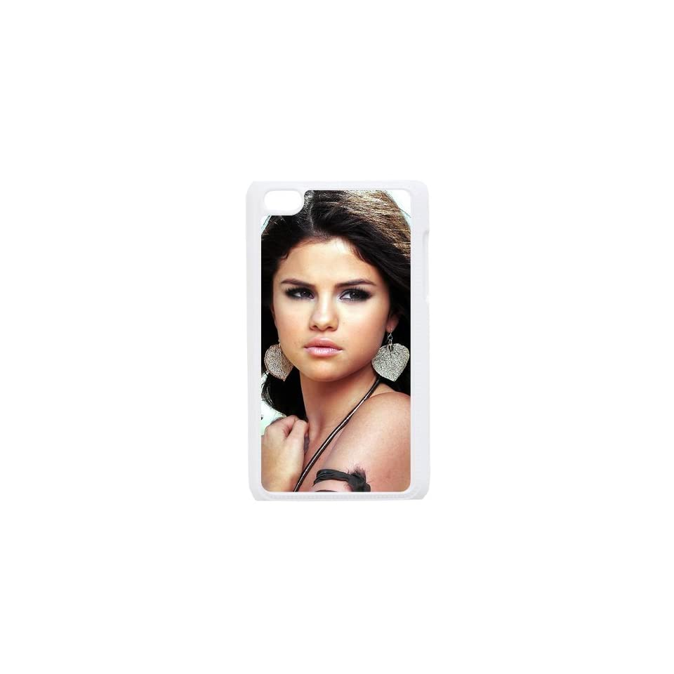 Selena Gomez Custom Case for iPod Touch 4, VICustom iTouch 4 Protective Cover(Black&White)   Retail Packaging