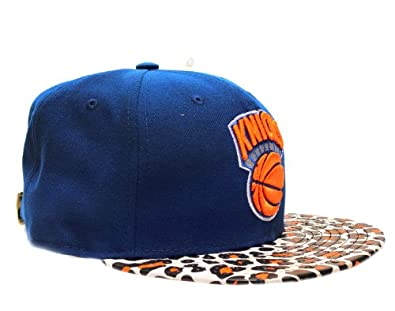 New Era 9Fifty New York Knicks Ostrich Vize Leopard Mens Strapback Hat... by New Era