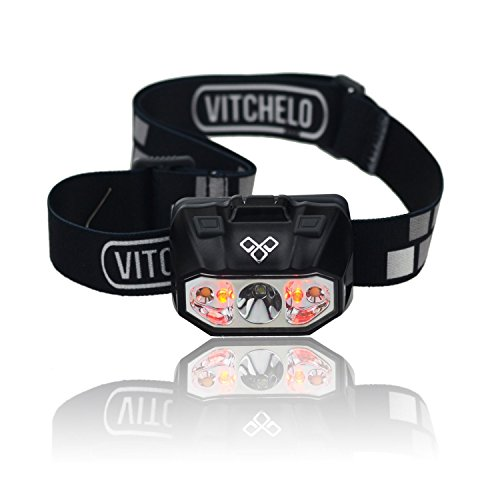 VITCHELO-Waterproof-Outdoor-Red-Led-Headlamp-Flashlight-Lightweight-Dimmable-Comfortable-Headlight-Head-Lamp-Best-for-Running-Camping-Hiking-Backpacking-Fishing-Boating-Reading-Knitting