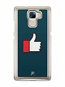 YuBingo Thumbs Up Sign Designer Mobile Case Back Cover for Huawei Honor 7