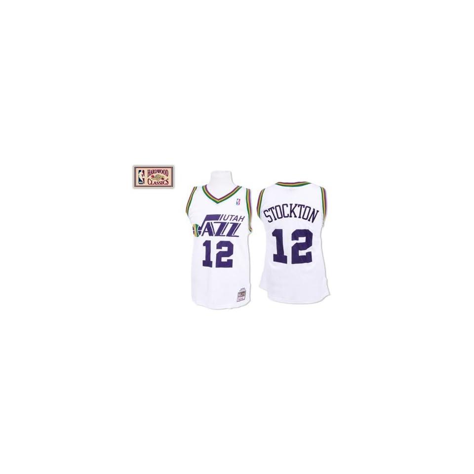 more photos 2945e 0dade John Stockton Utah Jazz 87 88 Mitchell & Ness Jersey on ...