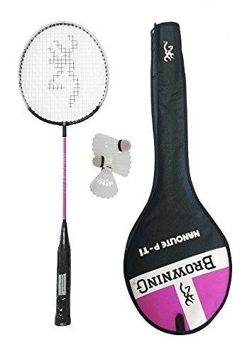 Browning Nanolite Rosa Ti Racchetta Badminton + 3 Volani Carlton
