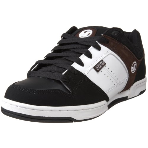 DVS Men's Sonar Skate Shoe,Black/Brown,9 M US