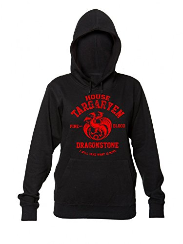 Game of Thrones House Targaryen Fire and Blood Dragonstone I Will Take What is Mine Women's Hooded Sweatshirt Large