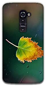 The Racoon Grip a leaf hard plastic printed back case / cover for LG G2