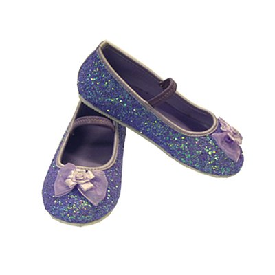 Lilac Glitter Party Shoes - Kids Accessory 9 - 10 years