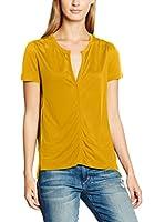 Stefanel Camiseta Manga Corta (Amarillo)