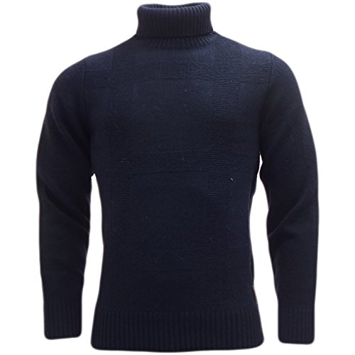 Maglioni Da Uomo Ben Sherman Roll collo lavorato a maglia maglione invernale Maglieria Navy X-Large