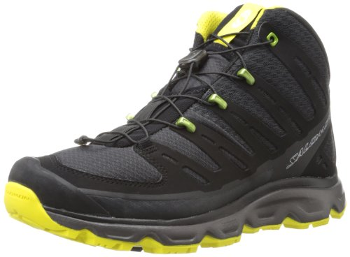 Salomon Men's Synapse Mid Hiking Shoe,Asphalt/Black/Canary Yellow,12 M US