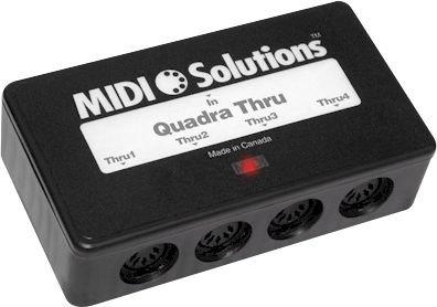 MIDI Solutions ソリューション Quadra 4-Output MIDI Thru Box【並行輸入品】