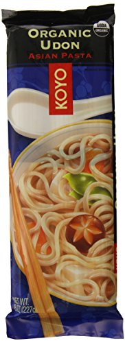 KOYO Organic Round Udon Pasta, 8 Ounce (Pack of 12) (Round Pasta Noodles compare prices)