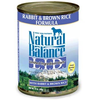 Natural Balance Limited Ingredient Diets - Rabbit & Brown Rice -12X13Oz