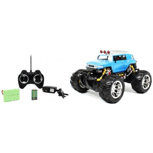 1:16 Toyota FJ Cruiser Monster Truck Rechargeable RTR RC Car High Quality Remote Control Truck w/ Monster Truck Rubber Grip Off Road Tires and Rechargeable Batteries