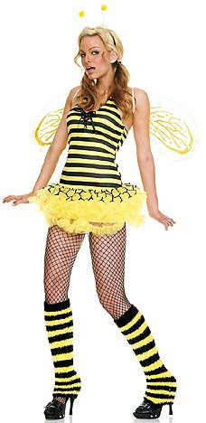 Queen Bee - Women's Sexy Bee Costume Lingerie Outfit