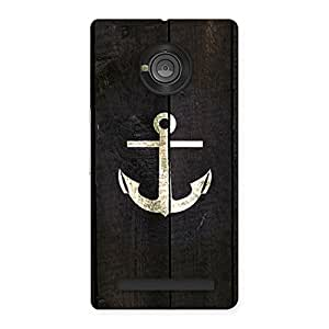 Bold Anchor Back Case Cover for Yu Yuphoria