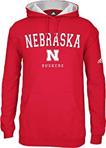 adidas Nebraska Cornhuskers Revised Playbook Hooded Sweatshirt by adidas