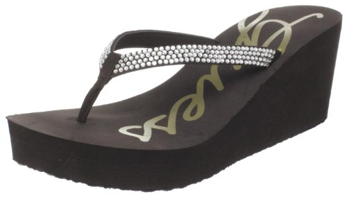 Guess Women's Seeside2 Flip Flop Sandal,Brown,9 M US