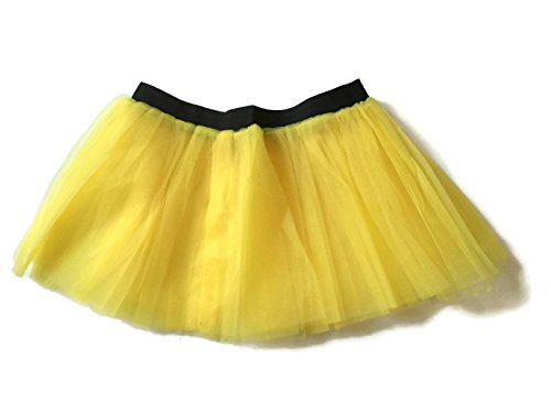 Rush Dance Running Skirt Teen or Adult Princess Costume Runners Rave Race Tutu (Yellow)