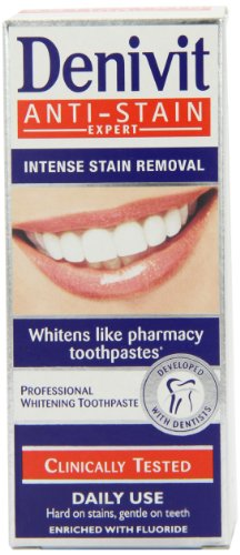 Denivit Anti-Stain Expert Professional Whitening Toothpaste 50ml (Pack of 6)
