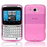 MYNC Hot Pink Matte Transparent Hydro Soft Frosted TPU Silicone Gel Skins Cover For HTC ChaCha G16