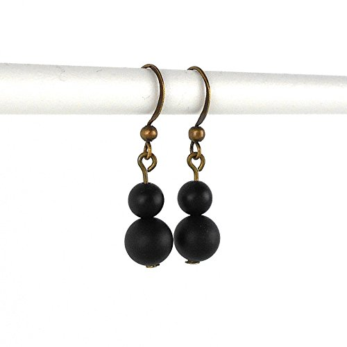 matte-black-onyx-mid-length-drop-earrings-in-antique-bronze-includes-gift-box