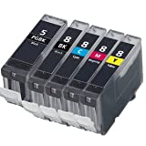 Tonercenter24 - COMPATIBLE INK CARTRIDGE REPLACEMENT FOR CANON PIXMA iP4200 iP4300 iP4500 iP5100 iP5200 iP5200R iP5300 MP500 MP530 MP600 MP600R MP610 MP800 MP800R MP810 MP830 MP950 MP960 MP970 9000 MX850- *WITH CHIP* (5-PACK , 1 SET)