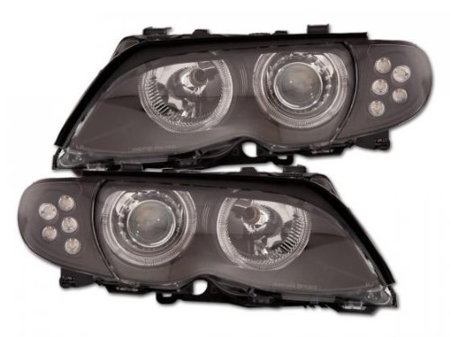Angel Eye Headlight Bmw 3Er E46 Limousine Yr. 01-05 Black