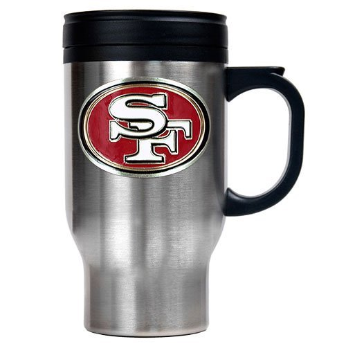 NFL San Francisco 49ers 16oz Stainless Steel Travel Mug (Primary Logo) at Amazon.com